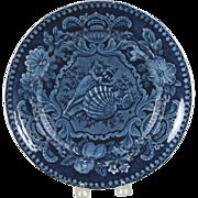 Beautiful Circa 1825 Transferware Plate by Joesph Stubbs Shell Pattern