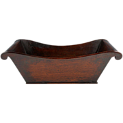 Rare & Pleasing Georgian Mahogany Bateau Form Table Tray