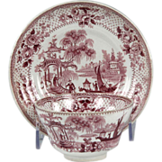 Fine 19th Century Staffordshire Pearlware Tea Bowl and Saucer Japonica Pattern