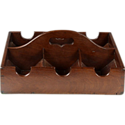 Rare Late Georgian Mahogany Wine Bottle Tray or Carrier