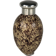 Charming Circa 1885 James Macintyre Egg Form Scent Bottle with Sampson Mordan Sterling Silver