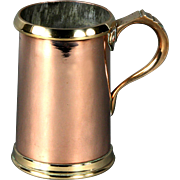 Superb 19th Century English Copper Tankard Quart Measure