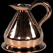 Handsome Circa 1820 English Copper Haystack Half Gallon Measure