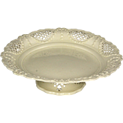 Exceptional Circa 1760 Leeds Pottery Hand Pierced Creamware Tazza or Low Compote