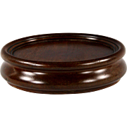 Superb George III Mahogany Bottle Coaster on Original Brass and Leather Castors