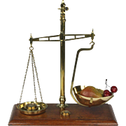 Wonderful Late 19th Century English Pan Balance Scale with Weights