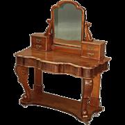 Antique Mahogany Victorian Vanity