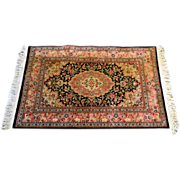 SOLD Oriental Silk Tabriz Persian Scatter Rug