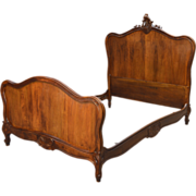 Antique French Cherry Carved Bed