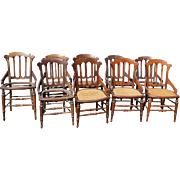REDUCED Set of 9 Victorian Walnut Dining Chairs