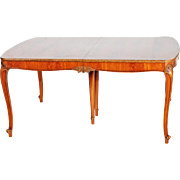 REDUCED French Victorian Style Dining Table - Opens to 8 Feet