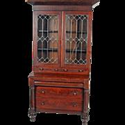 REDUCED Empire Flame Mahogany Civil War Era Secretary Desk