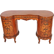 SOLD French Victorian Carved Vanity Desk