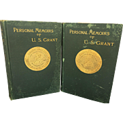 "Authentic ""Personal Memoirs of U.S. Grant"", Autobiographical Book Volume 1 & 2, 1st"