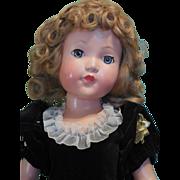 "27"" Effanbee Little Lady in Fabulous Original Dress with Heart Hangtag! SALE"