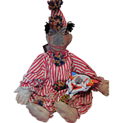 Vintage Carnival Clown Doll for Games