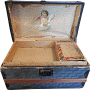 Doll Trunk with Tray for French or German Bebe