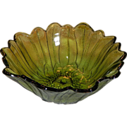 Indiana Glass Lily Pons or Sunflower Glass Bowl