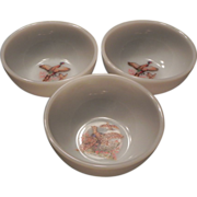 Fire King Oven Ware Wild Bird Soup Bowls