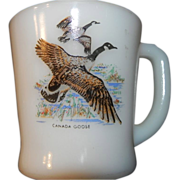 Fire King Canada Goose and Mallard Duck Oven Ware Mugs