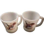 Fire King Mallard Duck Mugs Oven Ware U.S.A.