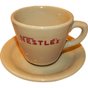 Nestle's Cup and Saucer Shenango China Inca Ware