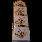 SOLD Metal Bill, Letter, Decorative  Wall Hanger Floral Design