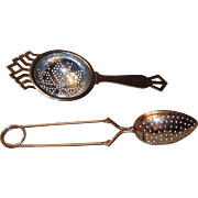 Tea Strainer Chrome Plate England  and Tea Infuser