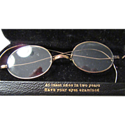 Child's 19th Century Vintage Gold Rim Wire Eye Glasses