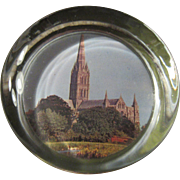 Vintage Paperweight Unknown English Church