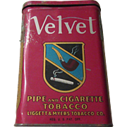 SALE Velvet By Liggett & Meyers Tobacco Co. Pipe and Cigarette Tobacco