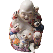 Good Luck Laughing Buddha with Five Children