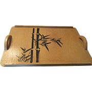 Japanese Bamboo Serving Tray For Tea