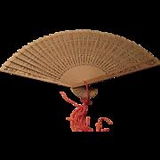 Sandalwood Fan from India 1960s
