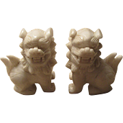 SALE Chinese Lion Paperweights Hong Kong