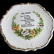 """True Friends"" Decorative Plate by  Lugene's Japan"