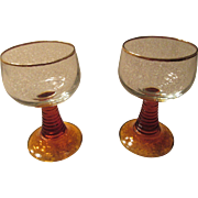 Roemer German Wine Glass Pair