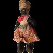 Jamaican Hand Sewn Cloth Doll Souvenir