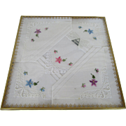 Alpina Swiss Handkerchiefs Four with Alpine Flowers
