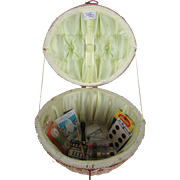 """An Exclusive Penney's Fashion"" Sewing Basket  with Bobbin Box"