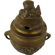 Brass Incense Burner Ornate Oriental Design