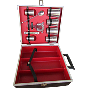 REDUCED Travel Liquor Case with Bar Tools and Glasses