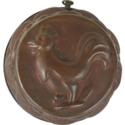 Vintage Copper Baking Mold with Chicken to Display and Use