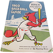 """1960 Baseball Guide"" by The Sporting News St. Louis, Missouri Booklet"