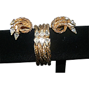Substantial Hattie Carnegie Bracelet/Earrings