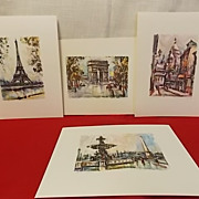 SOLD Vintage Maricus Girard French Prints set of four