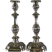 SALE Gorham Sterling Silver Candlesticks c.1913 Georgian Style Antique