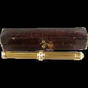 Antique 14K Gold Retractable Dip Pen Pencil Combo c.1870 Propelling Pen