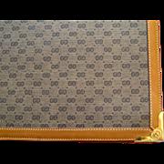 SALE PENDING Vintage Gucci Desk Pad c.1980 Note Tablet Holder Portfolio