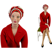 Miniature Counter Mannequin c.1950 Vintage Advertising Minikin Department Store Display